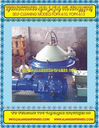 Reconditioned alfa laval oil centrifuge, industrial oil purifier, FOPX-613, VCO separator, WVO purifier BHAVNAGAR@ALANGSHIPSPARES.COM