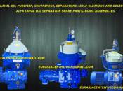 1998 Reconditioned Alfa Laval Marine and Industrial centrifuge separators EURASIACENTRIFUGE@GMAIL.COM