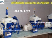 2001 Reconditioned Alfa Laval oil purifier , Solid bowl separator, ship oil purifier, industrial centrifuge, DO purifier MAB-103